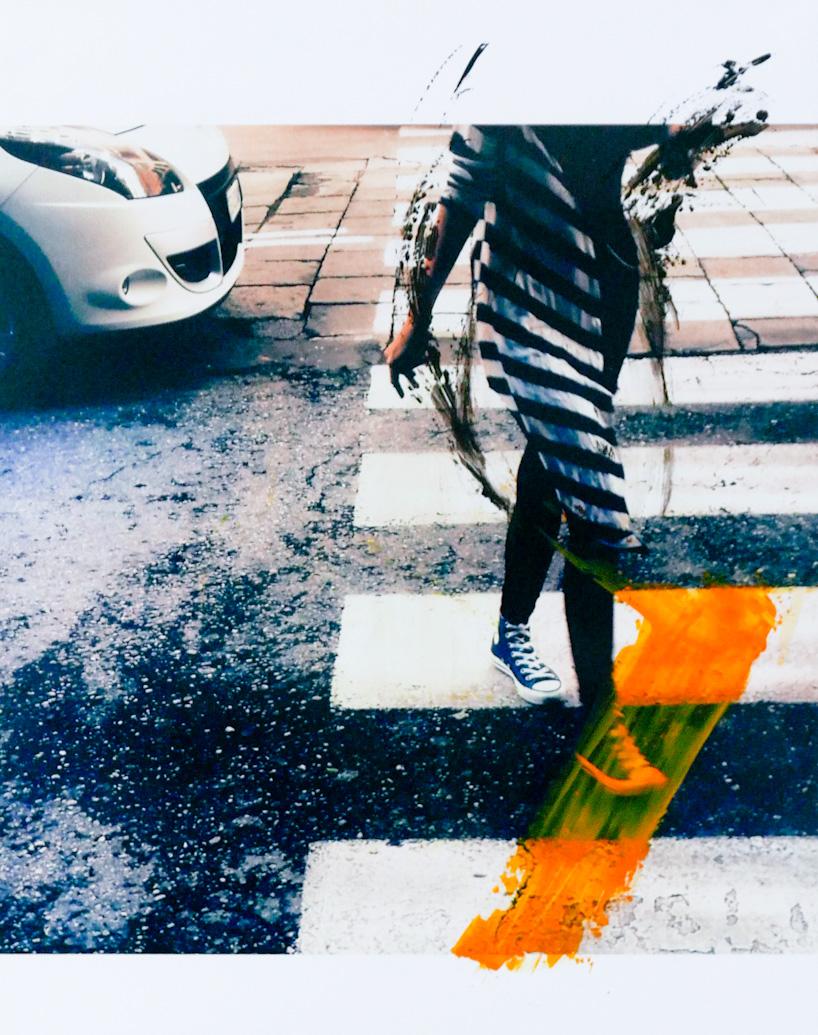 Crossing - acrilico su foto