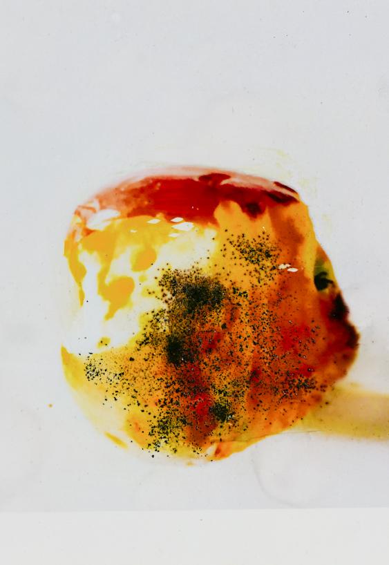 mela - pigmenti su foto