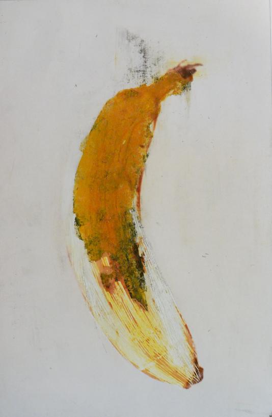 banana - pigmenti su foto
