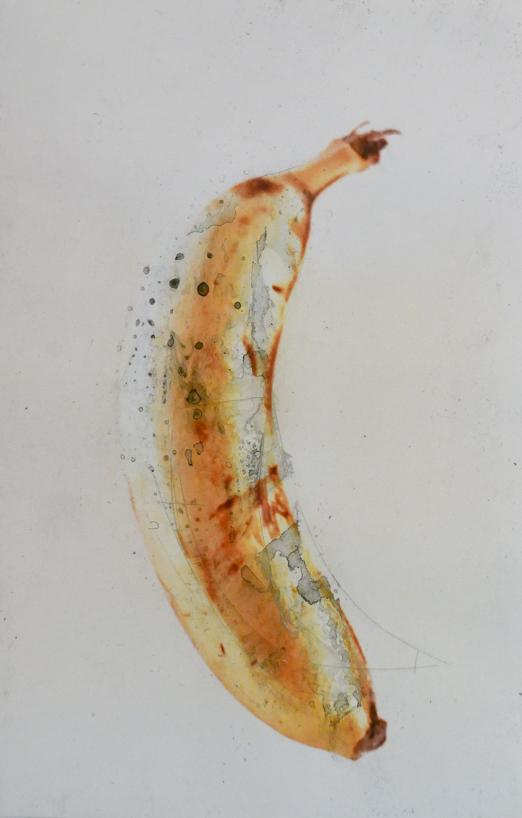 banana - acrilico su foto