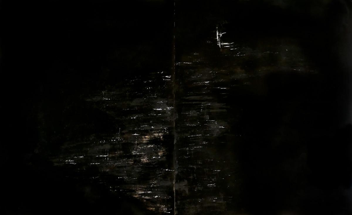 tree #11 - graffi, ruggine e china su carta fotografica analogica
