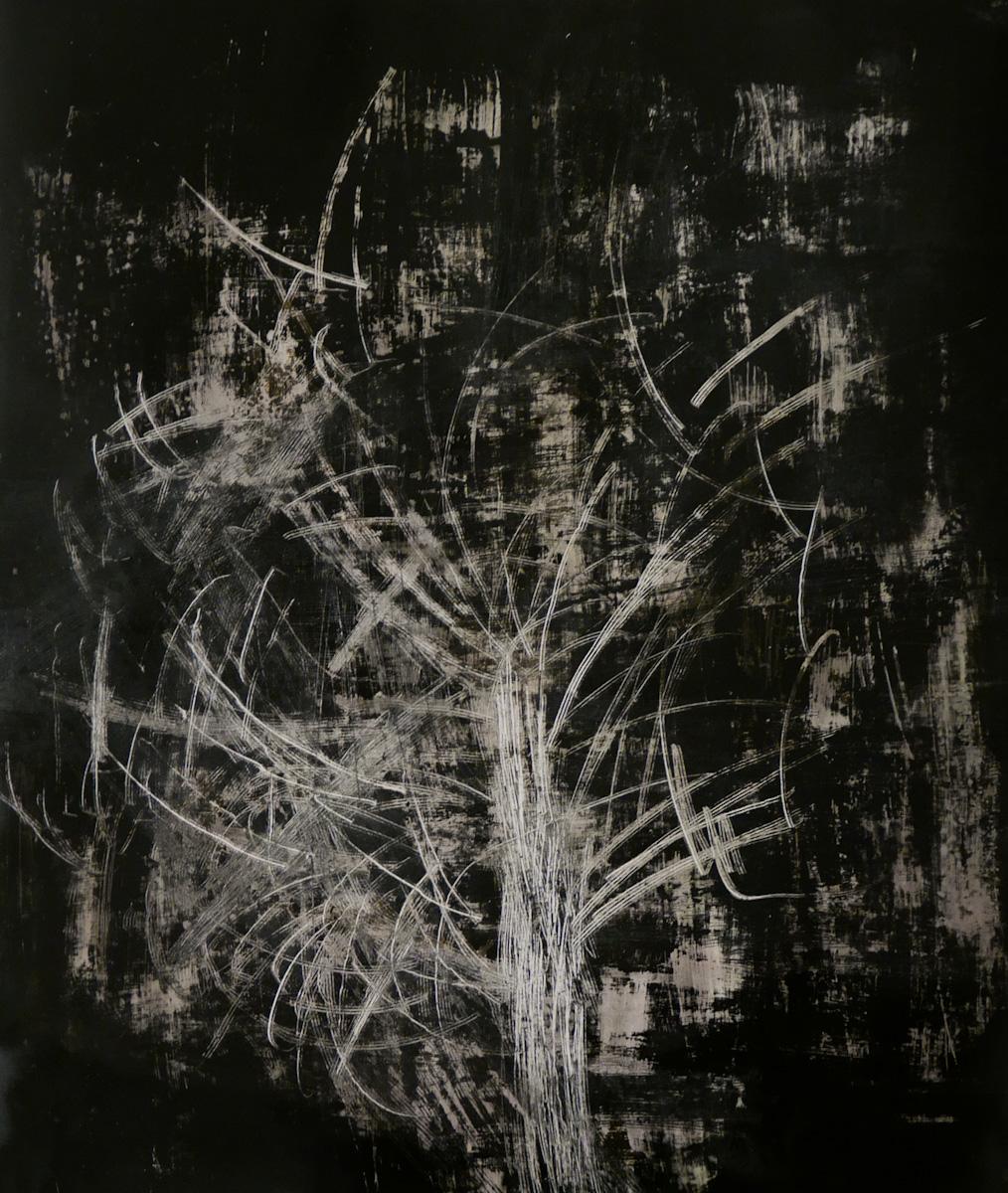 tree #13 - graffi e ruggine su carta fotografica analogica