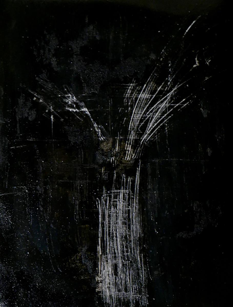 tree #15 - graffi e acrilico su carta fotografica analogica