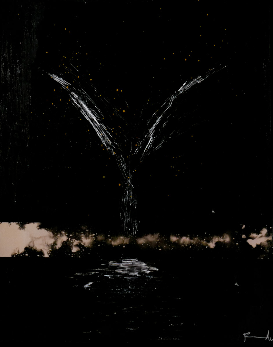 tree #6 - graffi e china su carta fotografica analogica